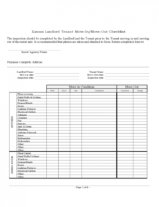 free landlord inspection checklist template  6 free templates in tenant move in checklist template