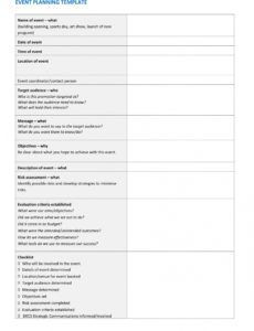 sample 9 event project plan examples  pdf  examples festival planning checklist template sample