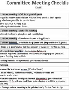 sample meeting checklist template  bcjournal meeting planning checklist template example