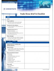 11 trade show checklist examples  pdf  examples trade show checklist template sample