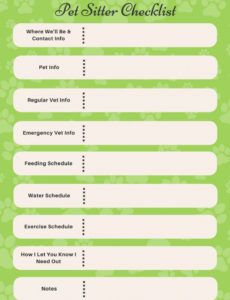 companion pet products  printable pet sitter checklist dog sitting checklist template word