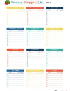 free 40 printable grocery list templates shopping list ᐅ grocery store checklist template excel