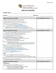free 50 useful new hire checklist templates & forms ᐅ templatelab it new hire checklist template pdf