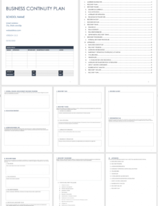 free business continuity plan templates  smartsheet business continuity checklist template word
