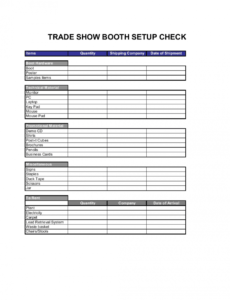 free checklist trade show booth setup template  by businessina trade show checklist template sample