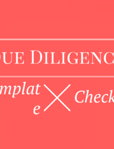 printable due diligence checklist request list for startup fundraising fundraising checklist template excel