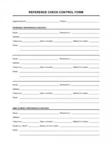 reference checking form template  by businessinabox™ reference checklist template example