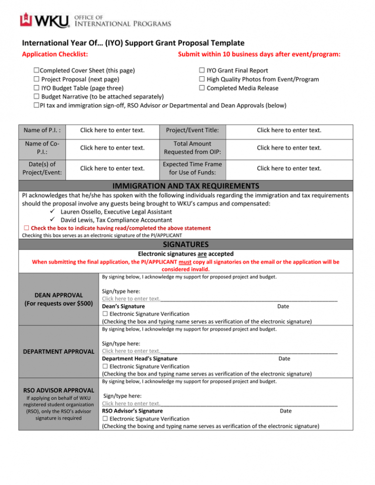editable international year of… iyo support grant proposal template proposal checklist template excel