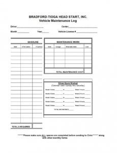 free car ance spreadsheet vehicle log template auto schedule fleet vehicle checklist template excel