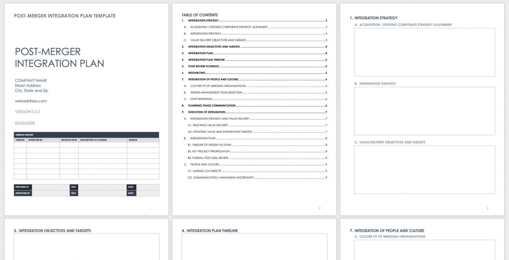 free download free m&a templates  smartsheet integration checklist template