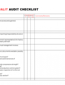free internal quality audit checklist spreadsheet templates internal financial audit checklist template doc