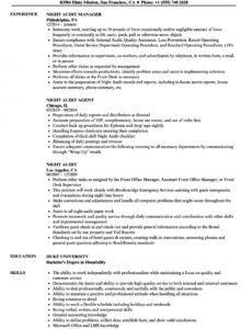 free night audit resume samples  velvet jobs night audit checklist template doc
