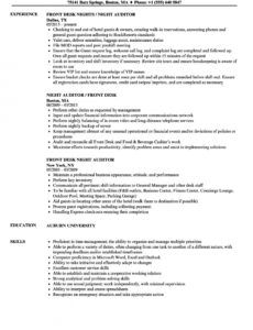 front desk night auditor resume samples  velvet jobs night audit checklist template pdf