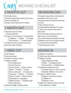 printable spreadsheet moving house checklist free printable download house moving checklist template pdf