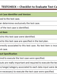 sample conducting empirical studies to evaluate a technique to application testing checklist template sample