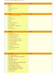 editable 40 printable house cleaning checklist templates ᐅ templatelab home cleaning checklist template example