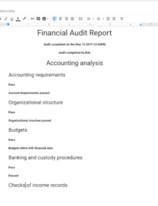 editable financial audits a quick guide with free templates audit engagement checklist template pdf