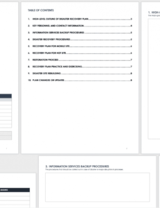 free disaster recovery plan templates  smartsheet disaster recovery plan checklist template word