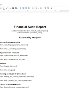free financial audit checklist  process street audit engagement checklist template