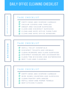 free office cleaning checklist daily weekly and monthly tasks janitorial cleaning checklist template pdf