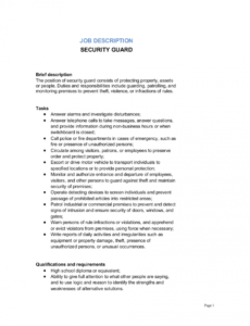 free security guard job description template  by businessinabox™ security patrol checklist template pdf