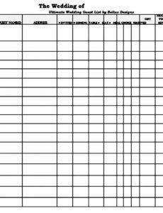 free spreadsheet guest list blank printable sample ing template wedding guest checklist template pdf