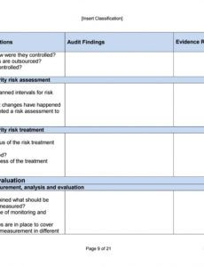 isms form 09 4 internal audit checklist by certikit limited security risk assessment checklist template sample