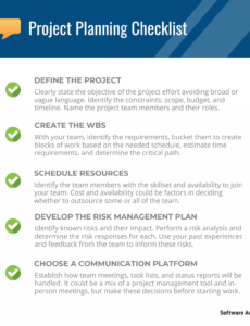 project planning checklist 5 steps every project plan project planning checklist template sample