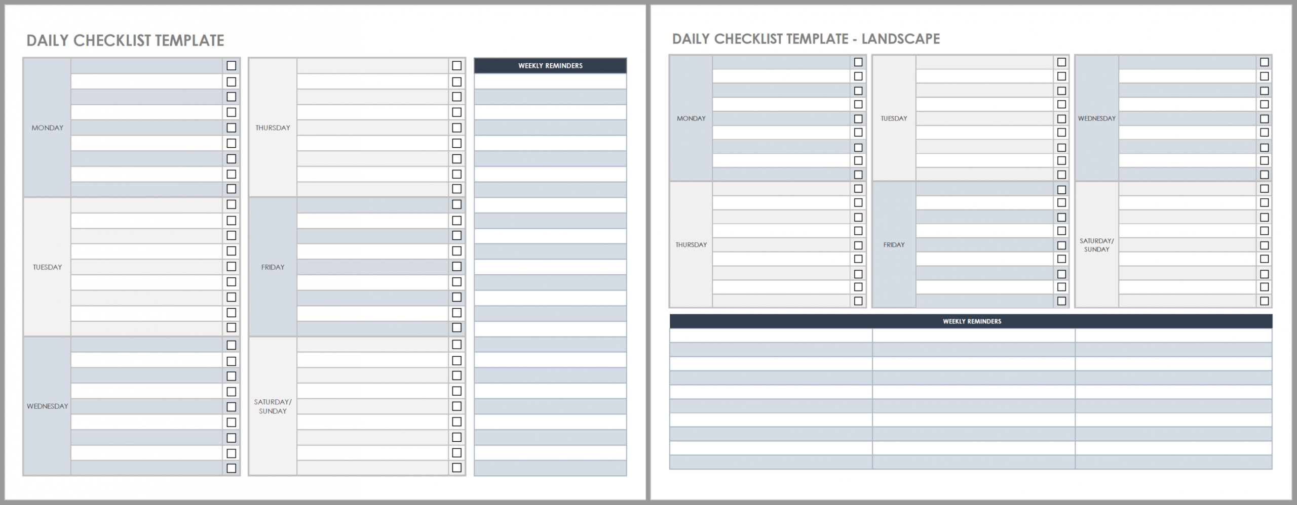 sample free daily work schedule templates  smartsheet daily routine checklist template excel