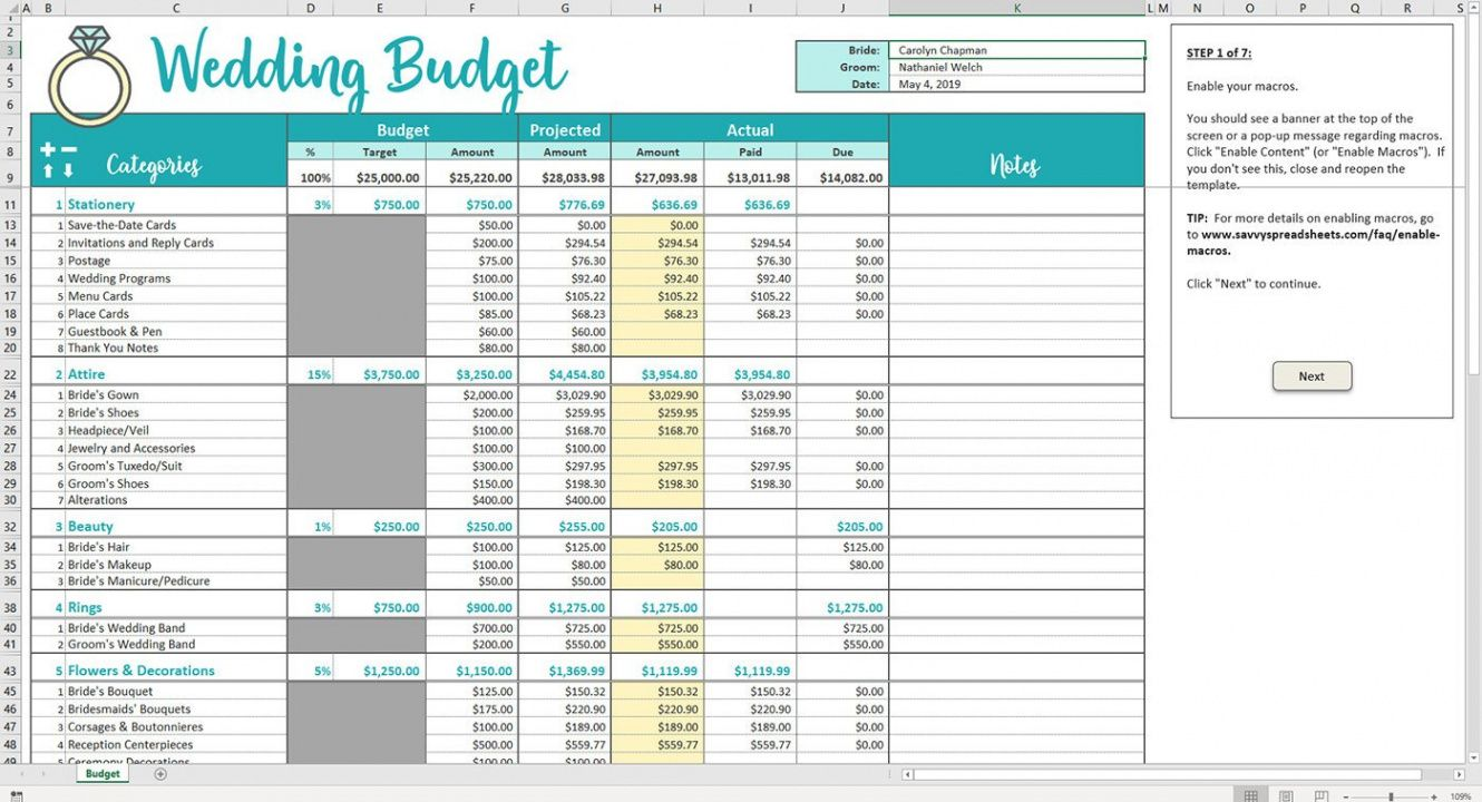 sample sample wedding budget spreadsheet excel kenya template wedding budget checklist template word