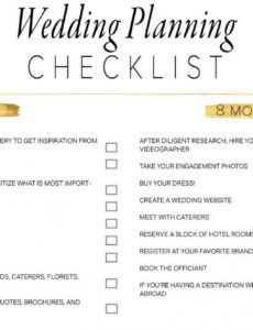 editable 11 free printable wedding planning checklists wedding day checklist template pdf