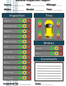 editable 6 free vehicle inspection forms  modern looking checklists auto service checklist template