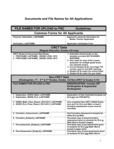 free document submission guidelines and checklist formative assessment checklist template pdf