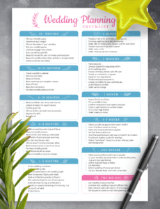 free download printable wedding planning checklist pdf wedding day checklist template sample