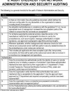 printable 6 audit checklist for network administration and security network assessment checklist template sample