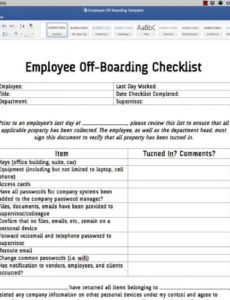 sample employee off boarding checklist template  youtube offboarding checklist template sample