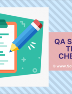 sample the qa software testing checklists sample checklists included website testing checklist template word