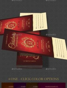 15 top party ticket templates  psd ai word  free christmas party ticket template