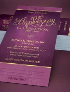 church anniversary banquet ticket template by godserv banquet ticket template word