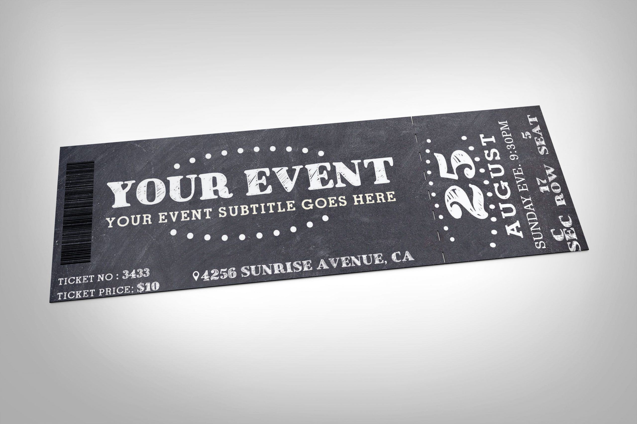 editable 24 event ticket templates  psd ai word  design trends fashion show ticket template word