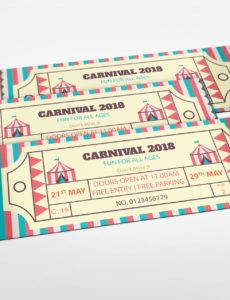 editable simple carnival ticket design template in word psd pages publisher ticket template pdf