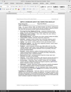 editable workplace safety selfinspection checklist template  cmp1012 workplace safety inspection checklist template example