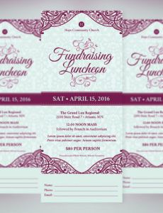 free fundraising luncheon ticket template on behance fundraiser dinner ticket template
