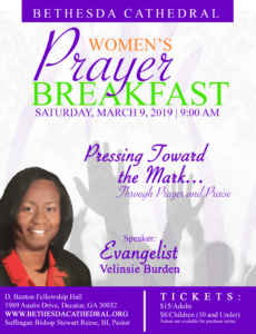 free prayer breakfast flyer  bethesda cathedralbethesda cathedral prayer breakfast ticket template