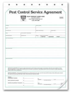 pest control contract  service agreements pest control service ticket template word