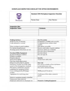 sample 10 workplace inspection checklist examples  pdf word mechanical inspection checklist template