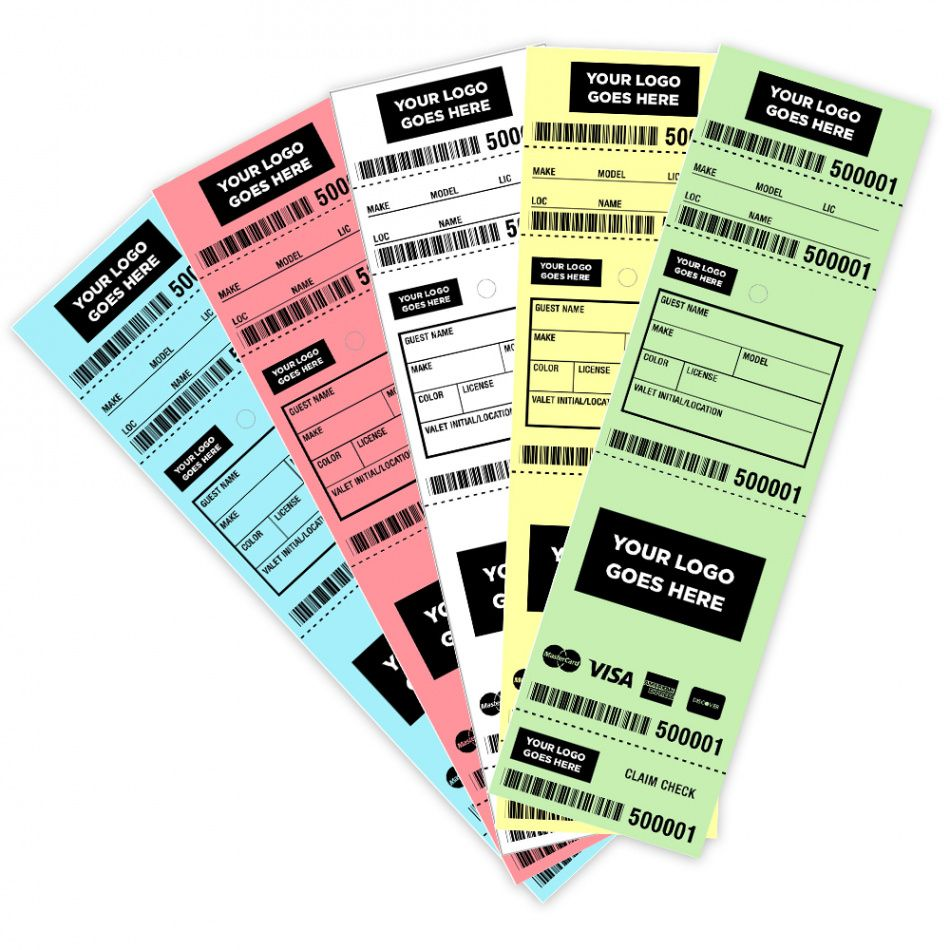 sample barcode valet parking tickets  custom or generic  sign factory valet parking ticket template pdf