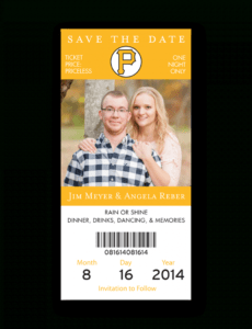 sample baseball ticket save the date  pirates  dot and bow baseball ticket save the date template example