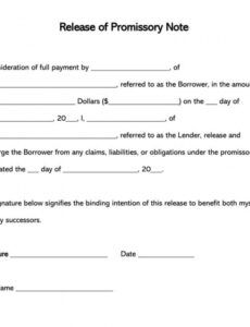 editable free promissory note debt release forms  word  pdf florida promissory note template