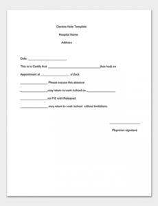 editable medical note template  30 doctor note samples doctors note for school template doc